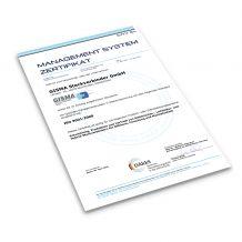 Zertifikat ISO englisch