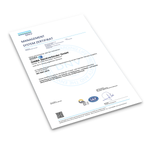 Cover Preview ISO 9001:2015 Zertifikat