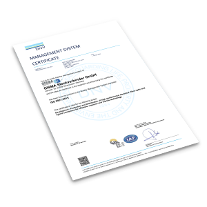 Cover Preview ISO 9001:2015 certificate